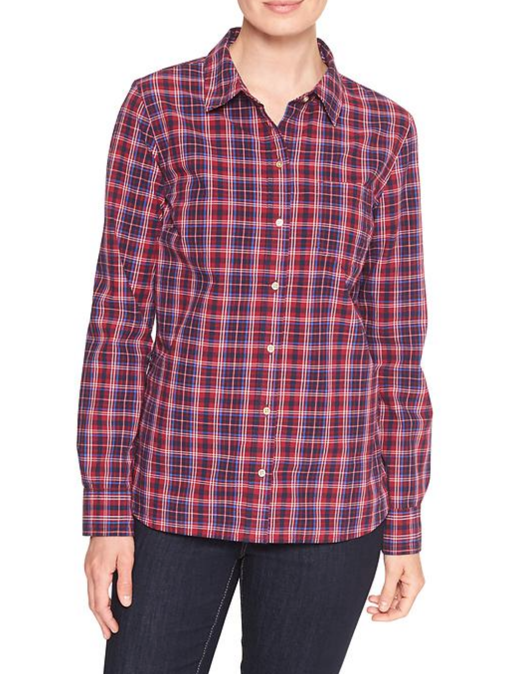tanger outlets gap flannel button down