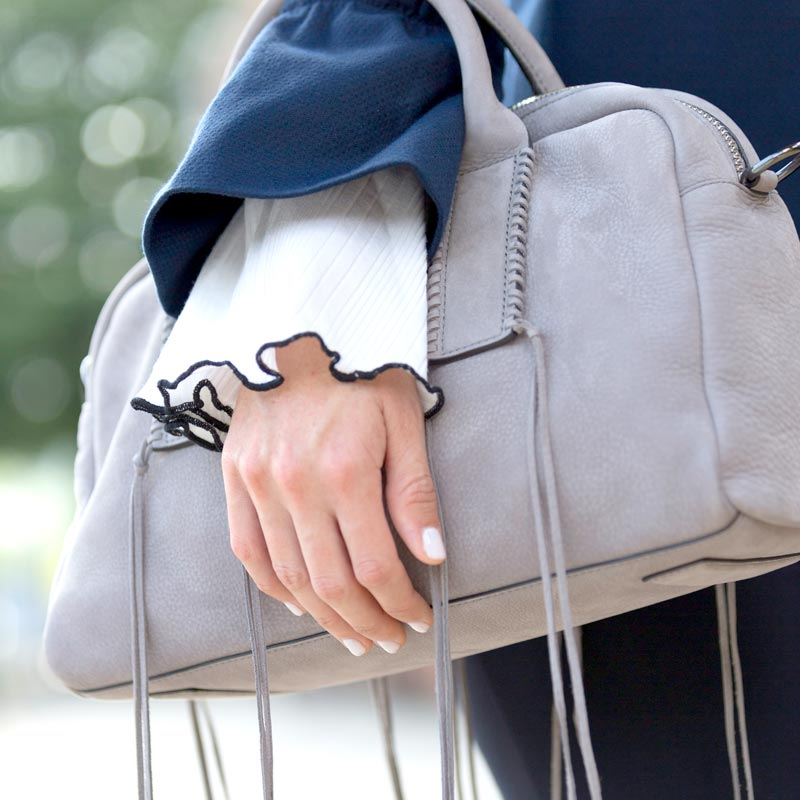 tanger outlets saks off fifth grey tote purse