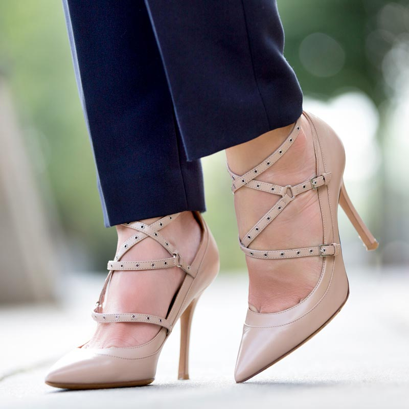tanger outlets saks off fifth nude strap pumps