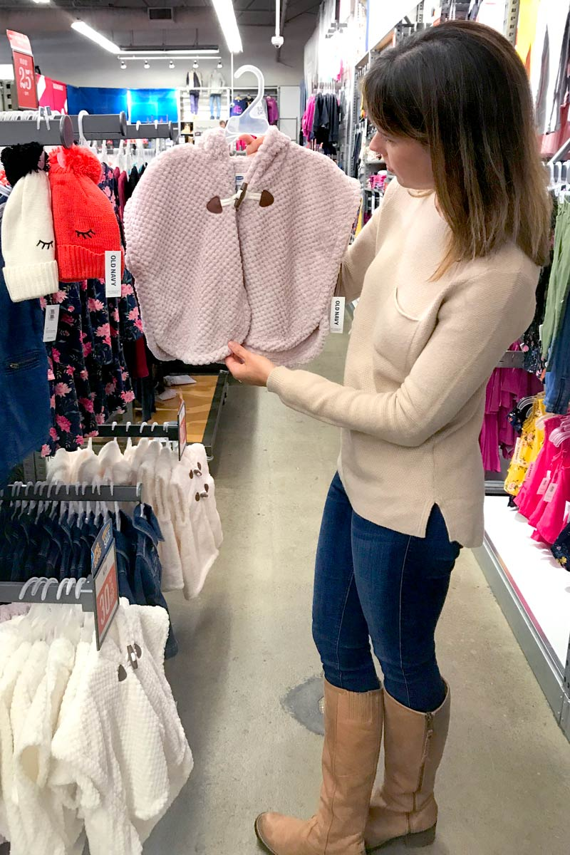 tanger outlets old navy girls poncho