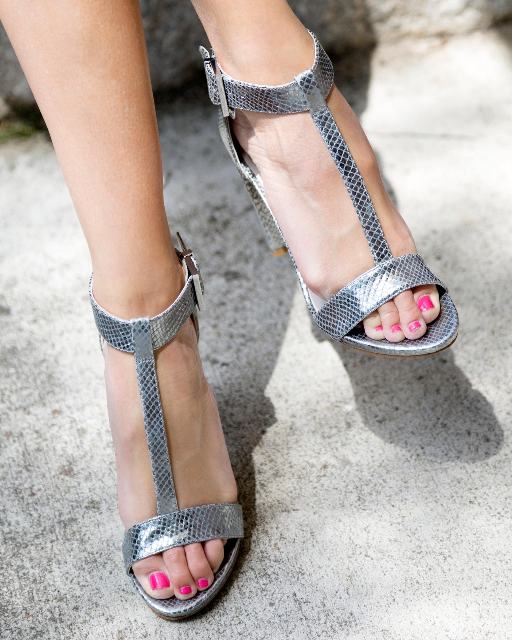 tanger outlets saks off fifth silver snakeskin heels