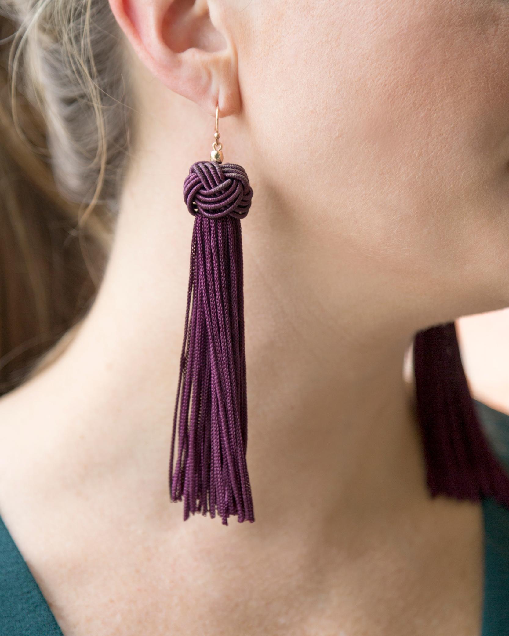 tanger outlets ann taylor tassel dangle earrings