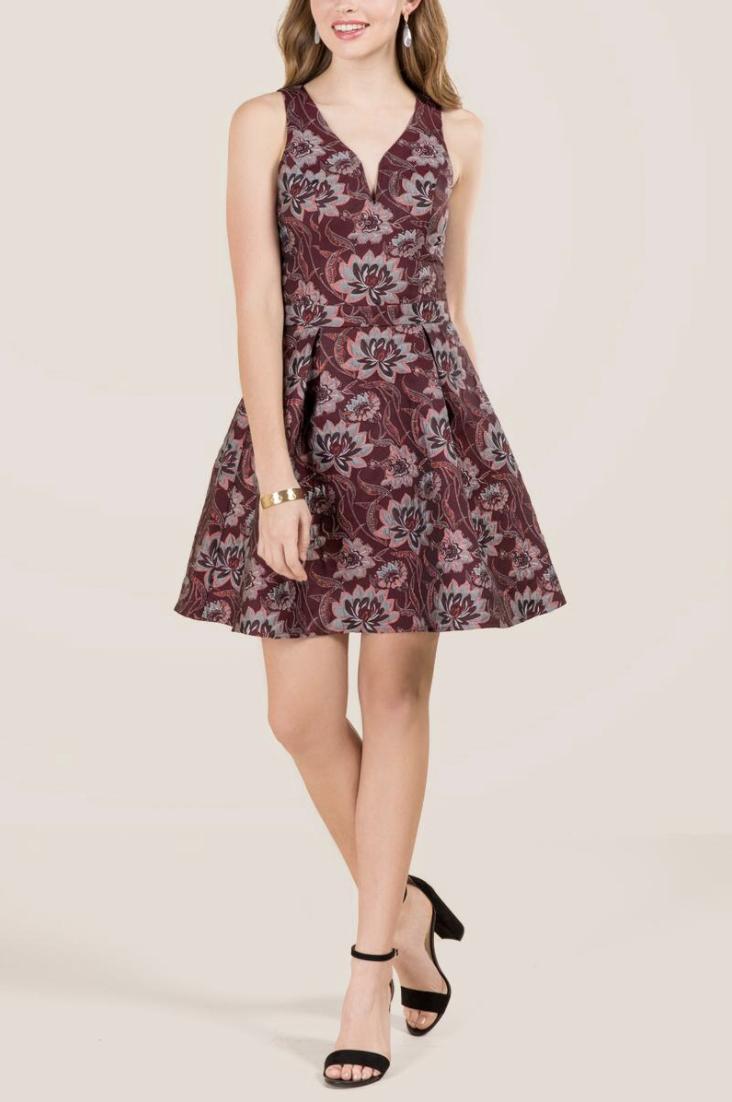 tanger outlets francescas patterned a-line dress