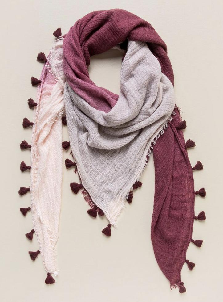 tanger outlets francescas ombre tassel scarf