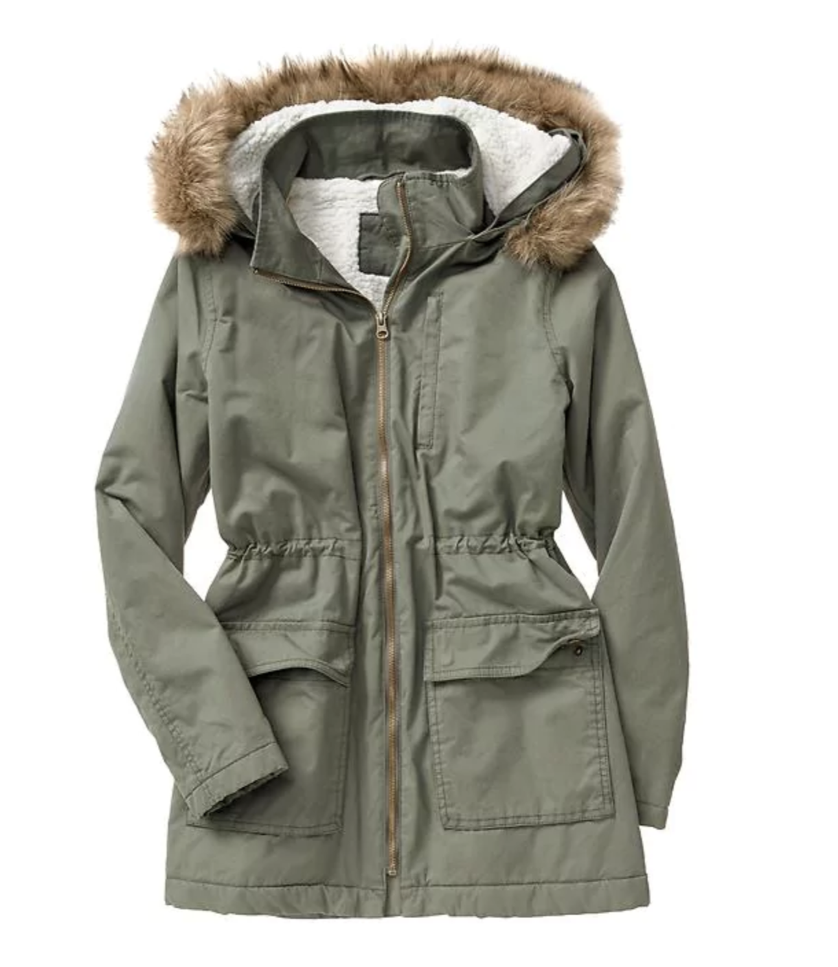 tanger outlets gap army green parka jacket