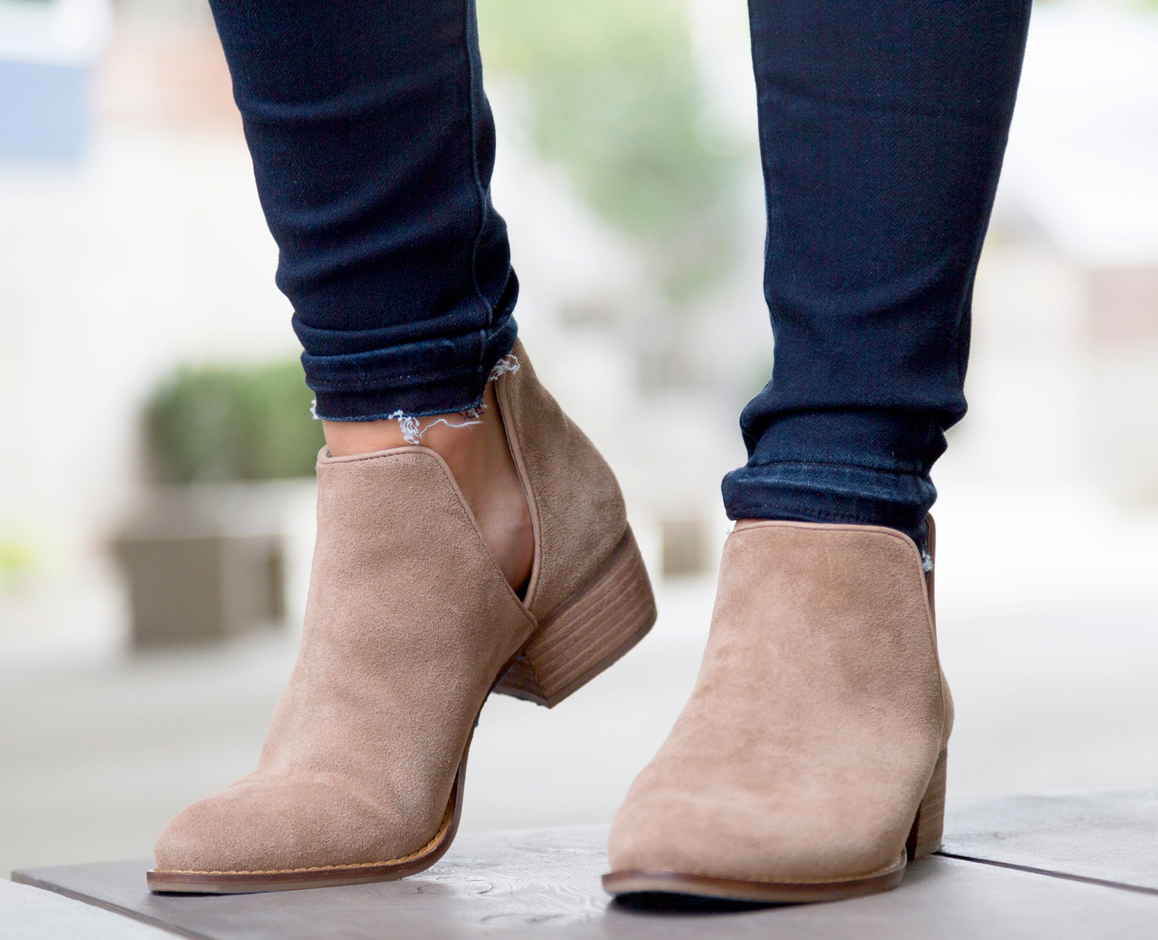 tanger outlets saks off fifth tan suede bootie