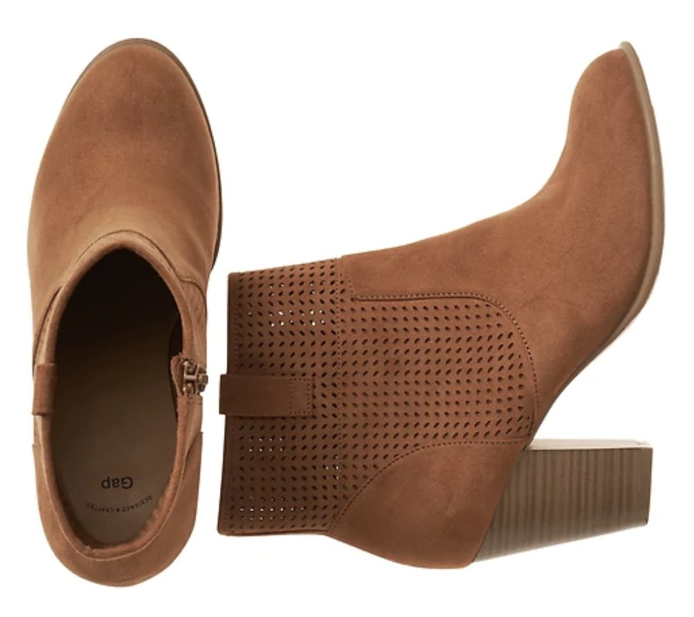 tanger outlets gap brown perforated booties