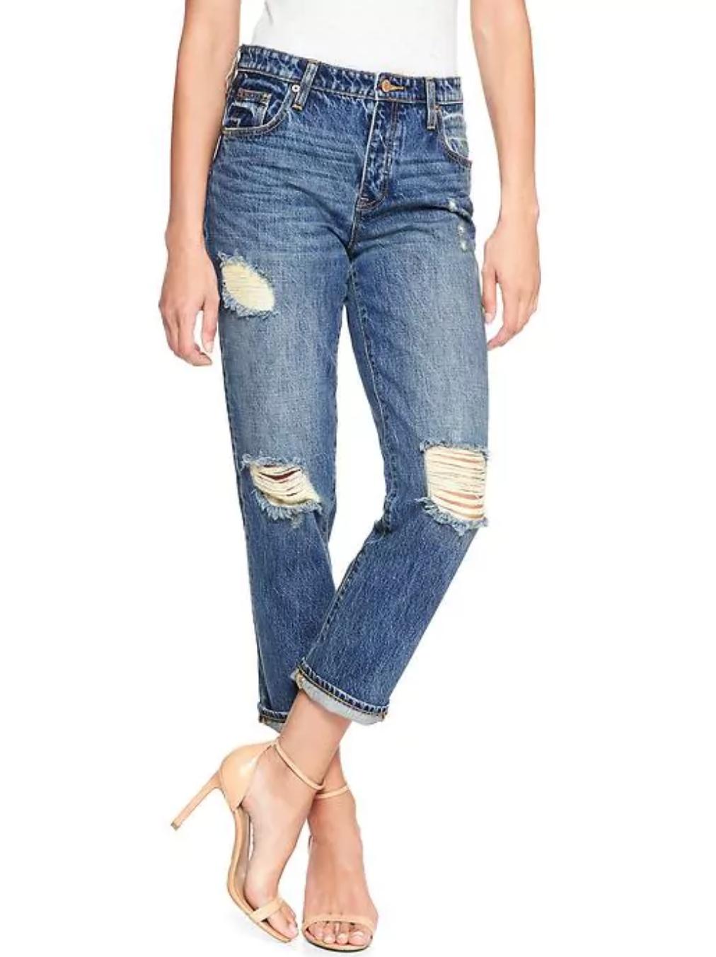 tanger outlets gap vintage distressed jeans
