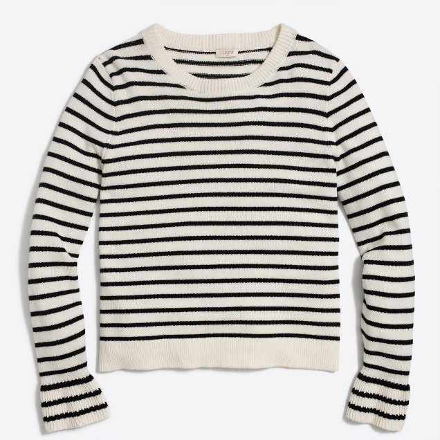 tanger outlets j crew basic crew striped sweater