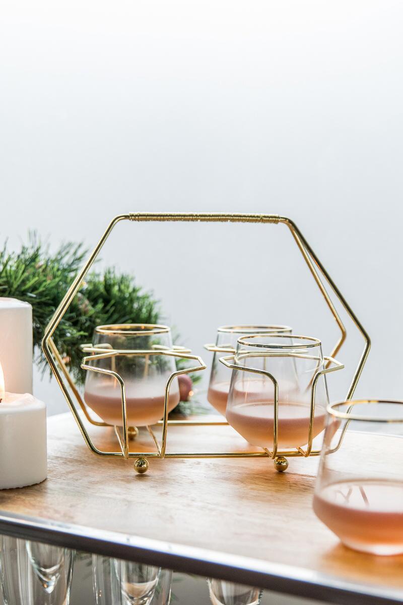 tanger outlets francescas gold drink caddy