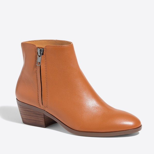 tanger outlets j crew leather bootie