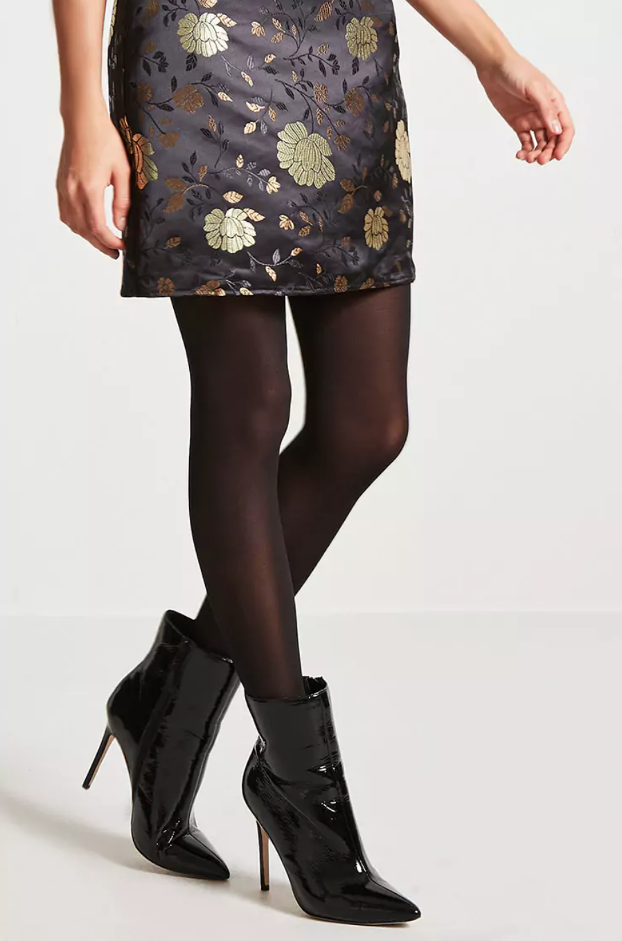 tanger outlets forever 21 opaque black tights