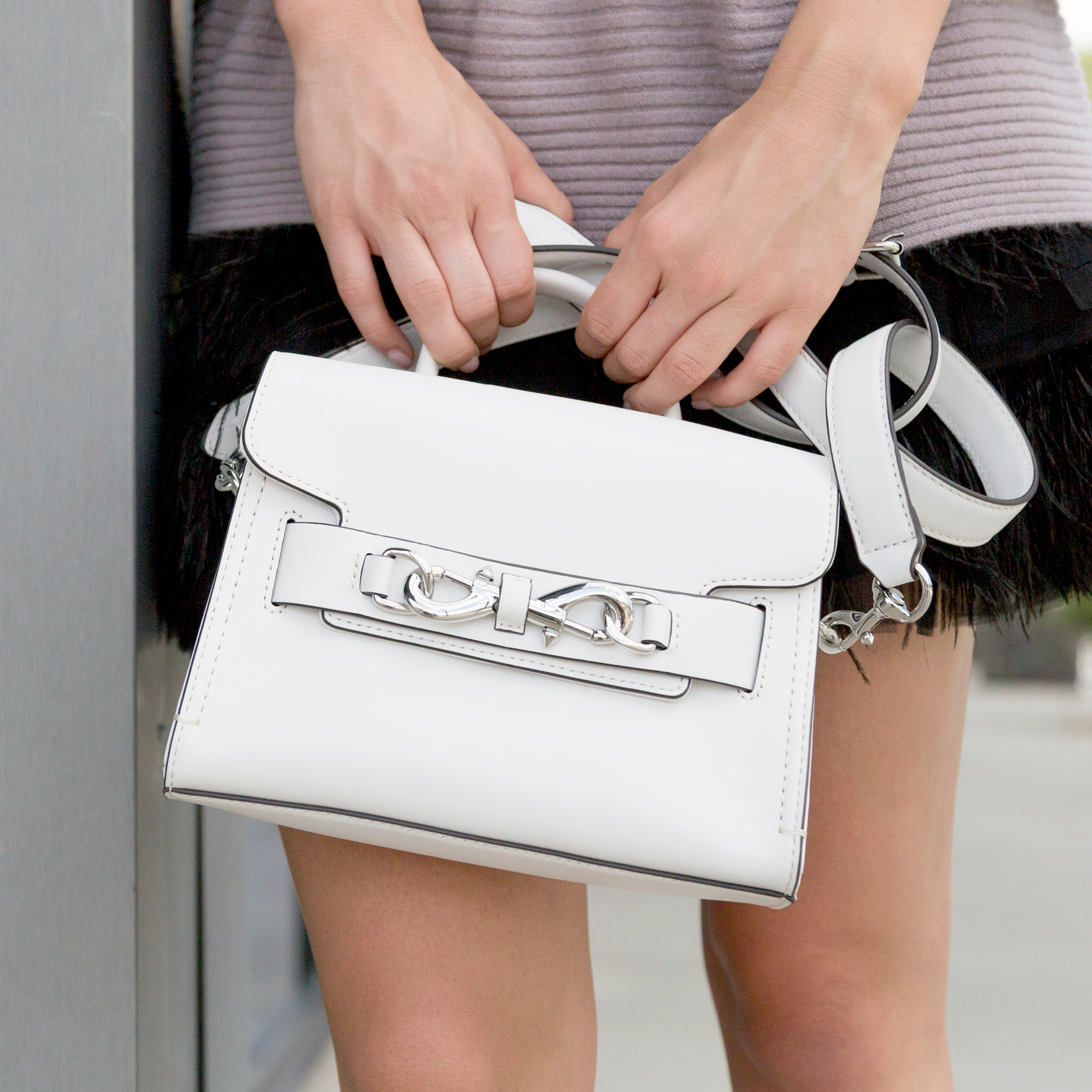 tanger outlets saks off fifth white crossbody purse