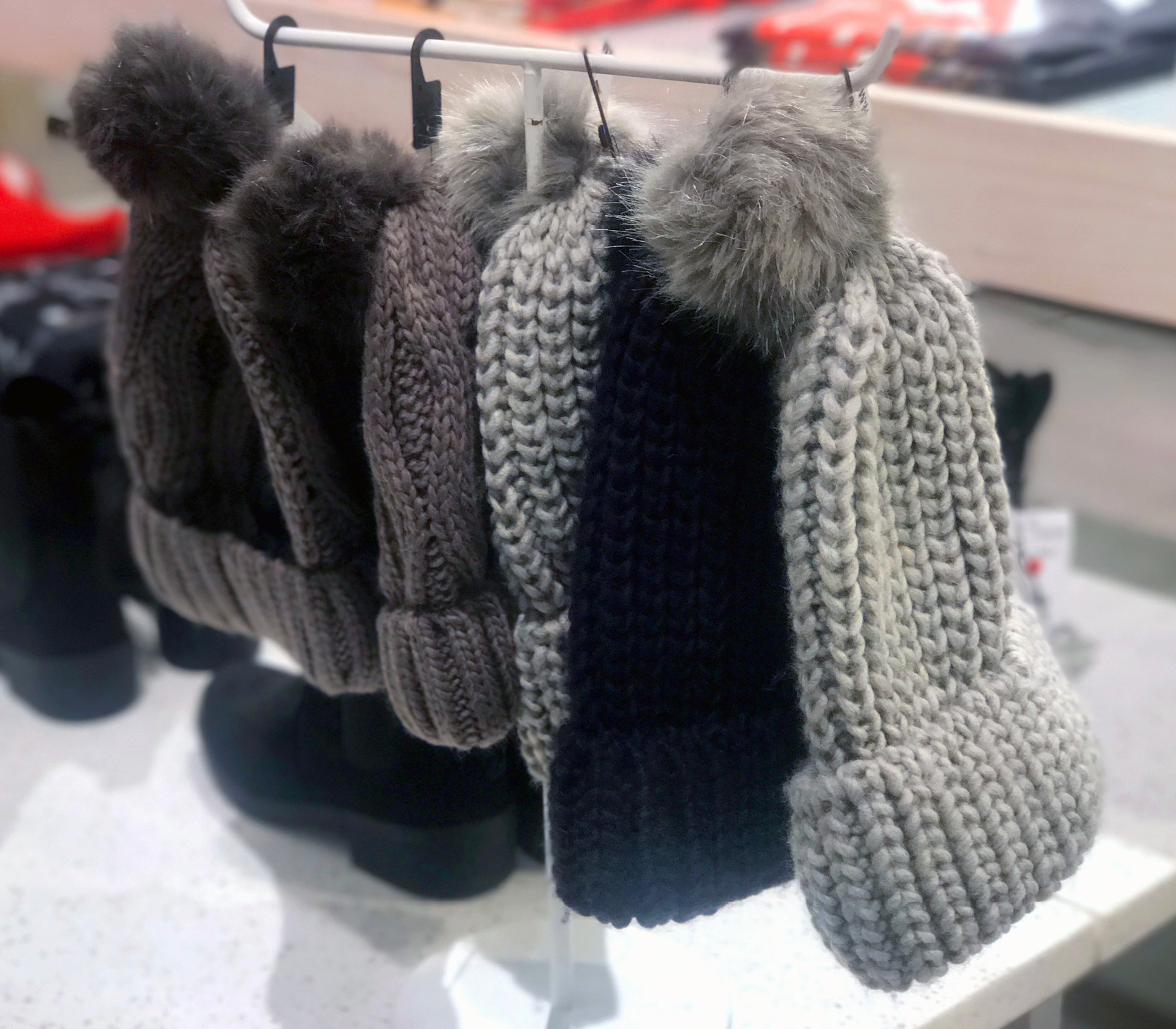tanger outlets h&m knit pom beanies