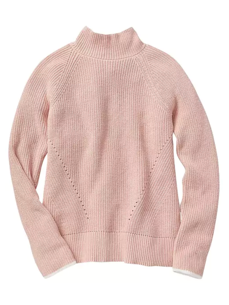 tanger outlets gap textured blush turtleneck sweater