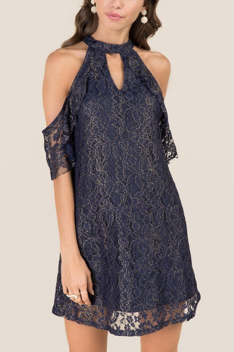 tanger outlets francesca's navy holiday dress