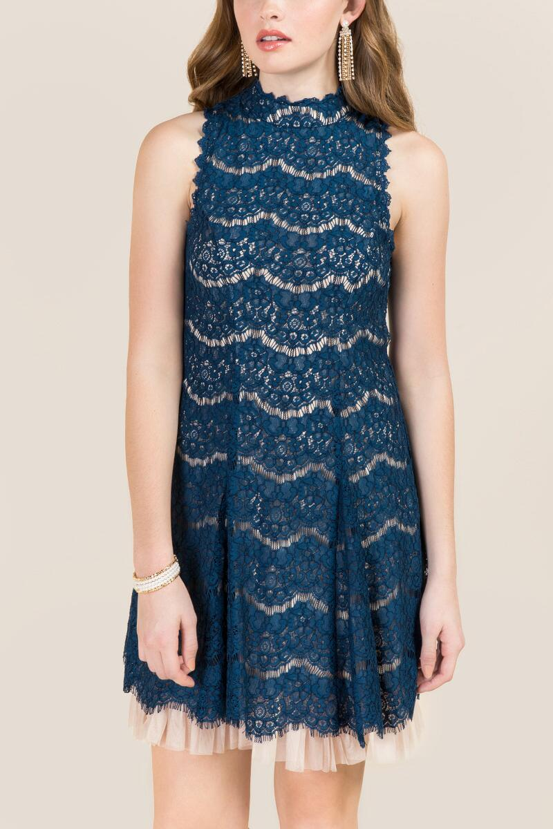 tanger outlets francesca's navy lace dress