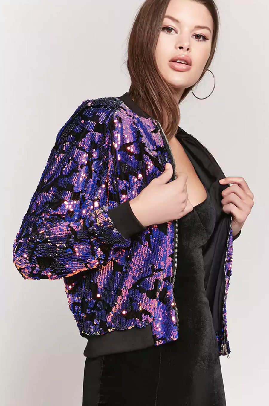 tanger outlets forever 21 sequined bomber jacket