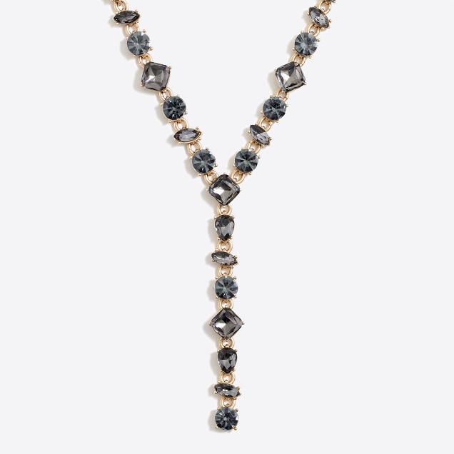 tanger outlets j crew crystal y shape necklace
