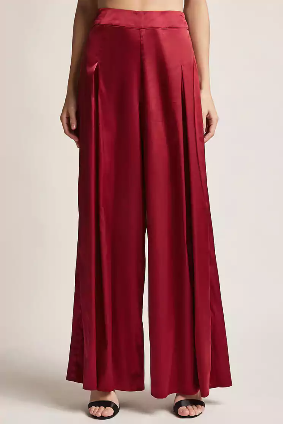 tanger outlets forever 21 satin palazzo pants