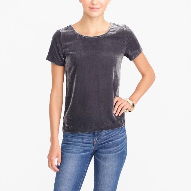 tanger outlets j crew basic velvet t-shirt