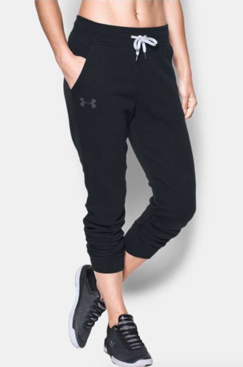 tanger outlets under armour black fleece joggers