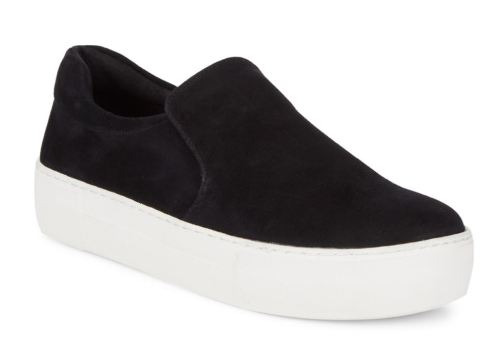 tanger outlets saks off fifth black suede sneakers