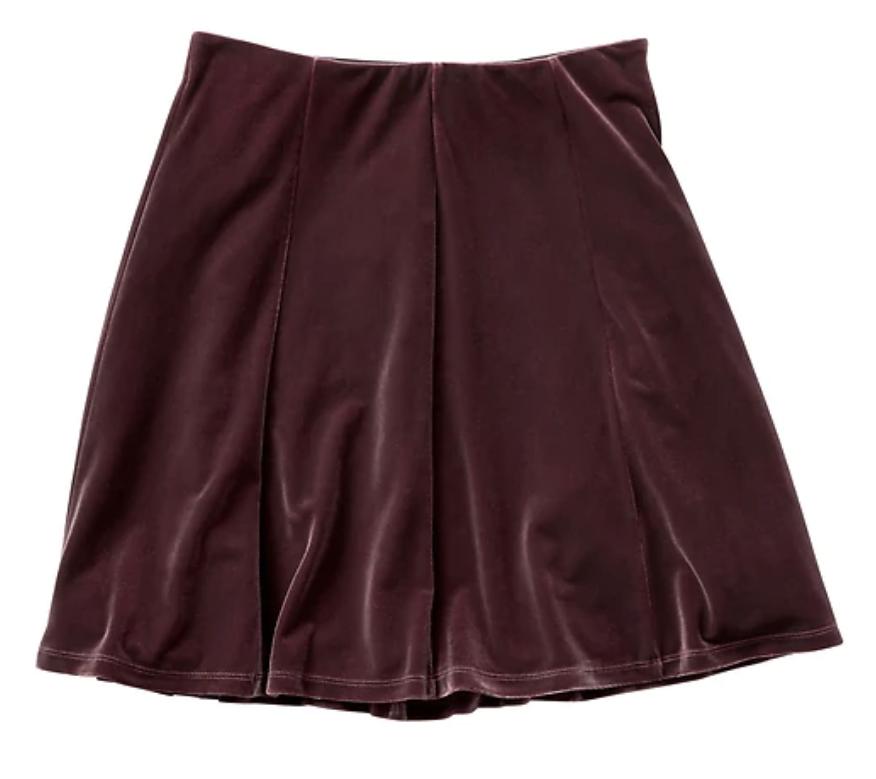 tanger outlets gap velvet skirt