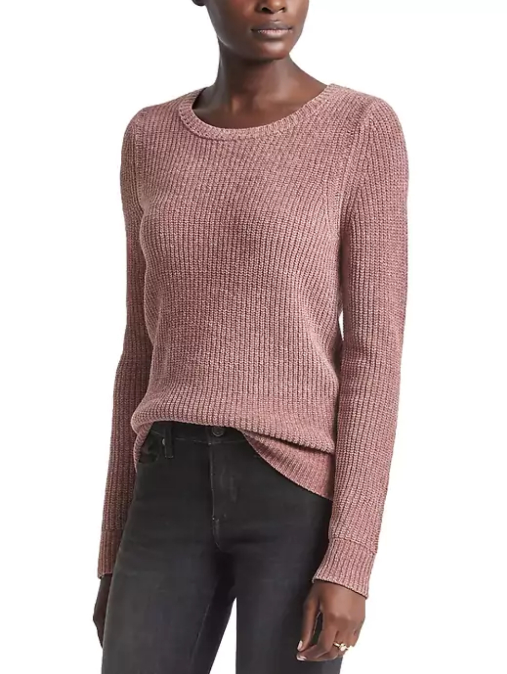 tanger outlets banana republic pink colored sweater
