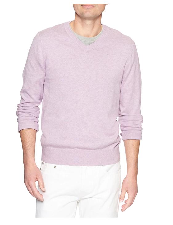 tanger outlets banana republic mens pastel v-neck sweater