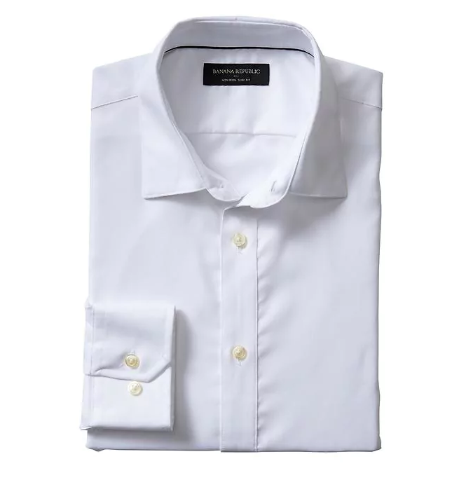 tanger outlets banana republic mens slim fit white dress shirt