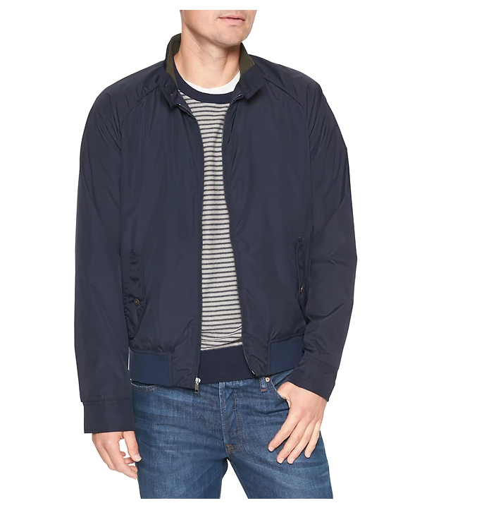 tanger outlets gap mens everyday navy zip-up jacket