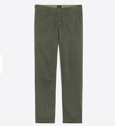 tanger outlets j crew mens colored straight fit utility pant