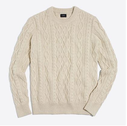 tanger outlets j crew mens beige crewneck sweater