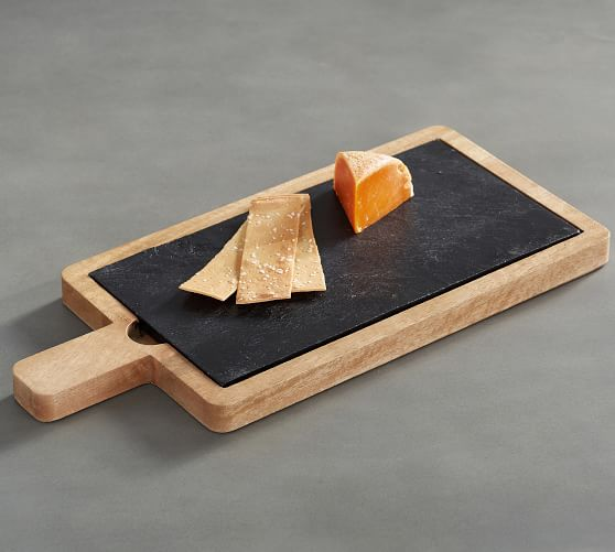 tanger outlets pottery barn wood and slate cheese board