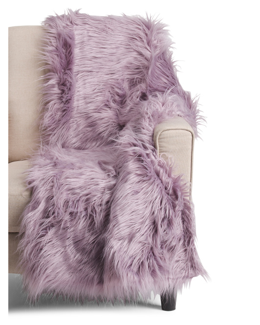 tanger outlets tjmaxx fur purple throw