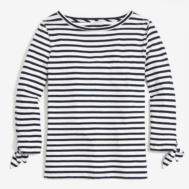 tanger outlets j.crew striped navy long sleeve shirt