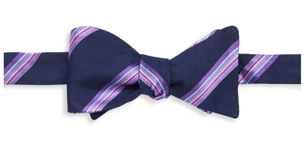 tanger outlets saks off fifth mens purple striped bow tie
