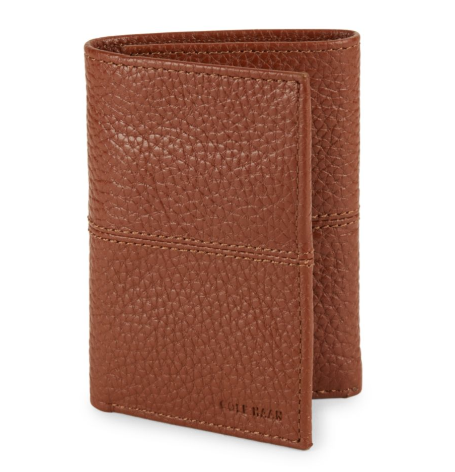 tanger outlets saks off fifth mens brown trifold wallet
